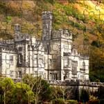 A unique perspective of Ireland's famous Kylemore Abbey