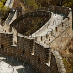 A nice picture of a twisty part of the famous chinese wall, China
