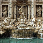 Fontana Di Trevi in front of Palazzo Poli - Roma - Italia