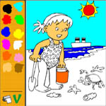 Online colouringbook