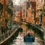 Venice. A busy street in Venice, Italy